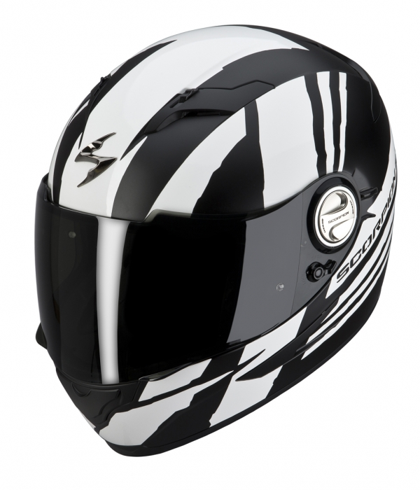 CASCO SCORPION EXO-500 THUNDER BLANCO NEGRO