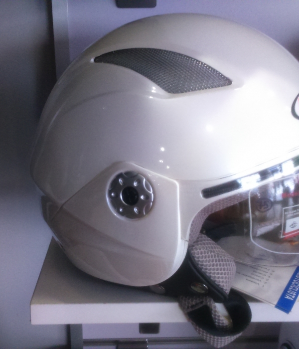 CASCO JET 4TEAM V518 BLANCO PERLA