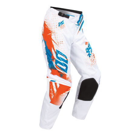 PANTALON SHOT CAPTURE BLANCO NARANJA