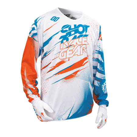 CAMISETA SHOT CAPTURE BLANCO NARANJA