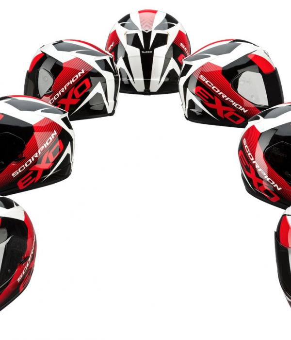 CASCO SCORPION 410 SLICER ROJO