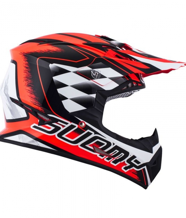 CASCO SUOMY RUMBLE STROKES ROJO