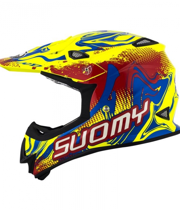 CASCO SUOMY MR JUMP GRAFFITI AMARILLO-ROJO