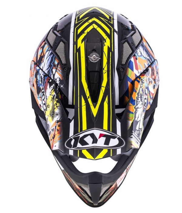 CASCO KYT STRIKE EAGLE NEW YORK AMARILLO-FLUOR