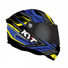 CASCO KYT THUNDERFLASH BOLT AZUL-AMARILLO
