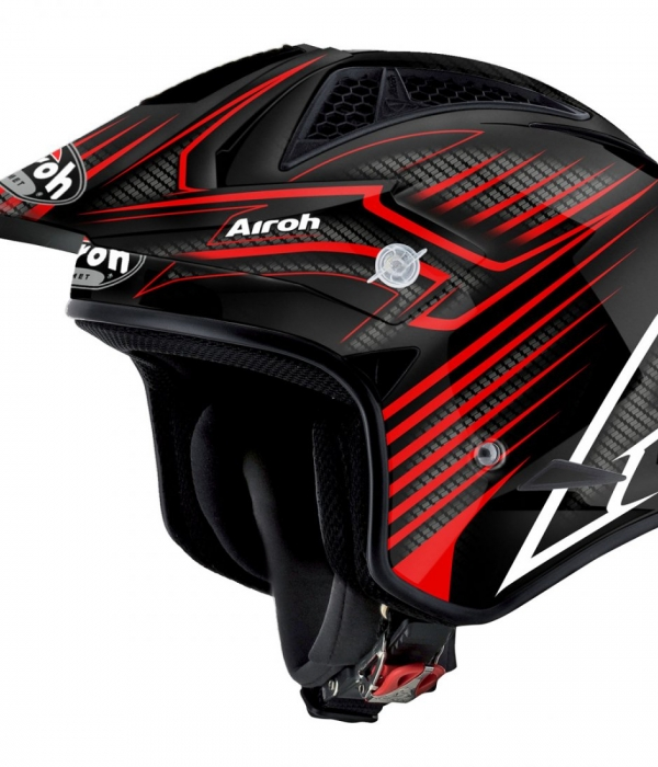 CASCO AIROH TRIAL TRR S DRAFT ROJO