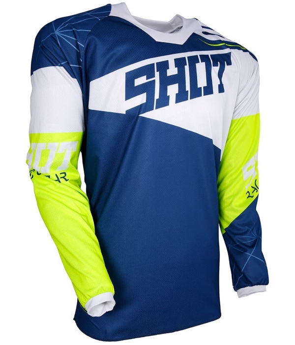 CAMISETA SHOT CONTACT INFINITE 2018 AZUL-BLANCO-AMARILLO
