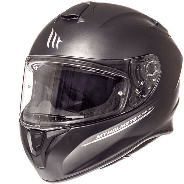 CASCO MT TARGO SOLID A1 NEGRO MATE