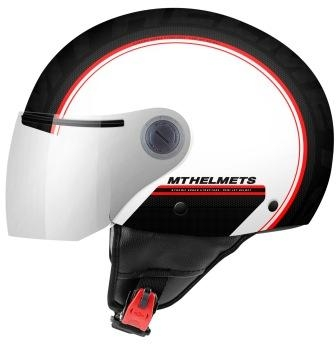 CASCO MT SREET ENTIRE D1 ROJO PERLA BRILLO