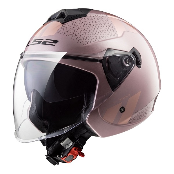CASCO LS2 OF573 TWISTER COMBO ROSA PALO