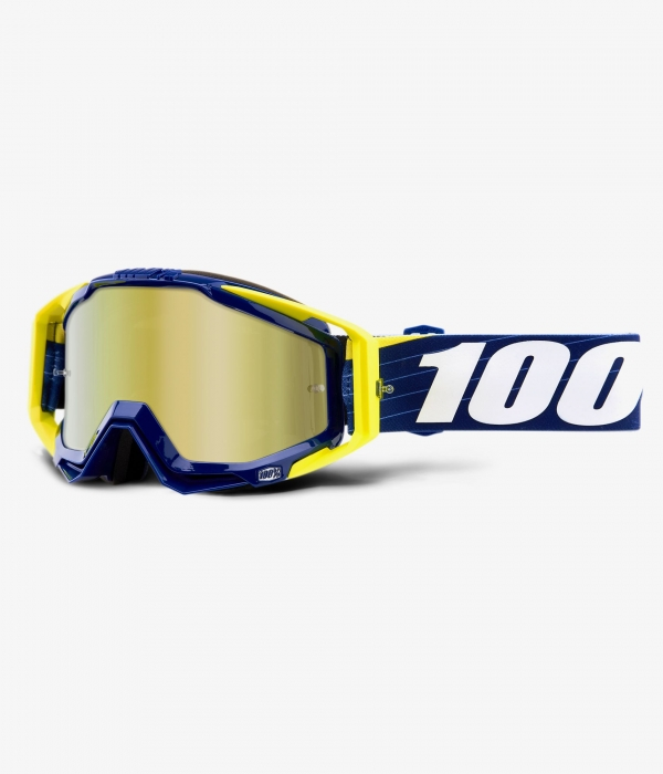 GAFAS 100% RACECRAFT BIBAL/NAVY  W/ MIRROR GOLD LENS