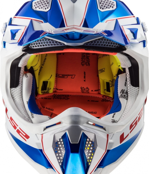 CASCO LS2  MX470 SUBVERTER POWER CHROME AZUL