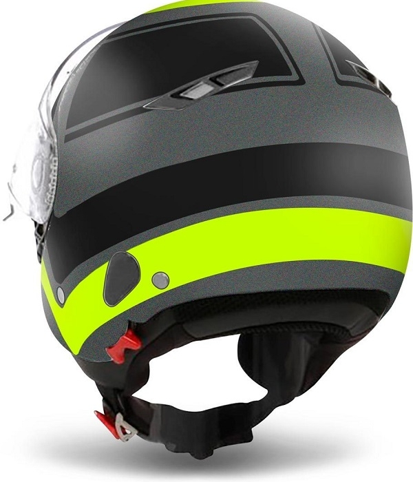 CASCO AIROH CITY ONE WRAP YELLOW MATT