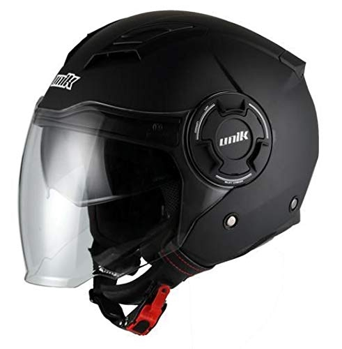 CASCO UNIK CJ-11 NEGRO MATE