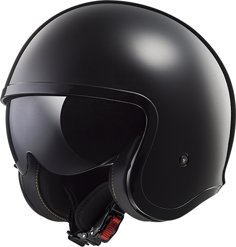 CASCO LS2 OF599 SPITFIRE SINGLE MONO NEGRO BRILLANTE