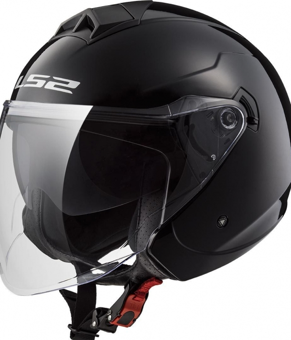 CASCO LS2 OF573 TWISTER II SINGLE MONO NEGRO BRILLANTE