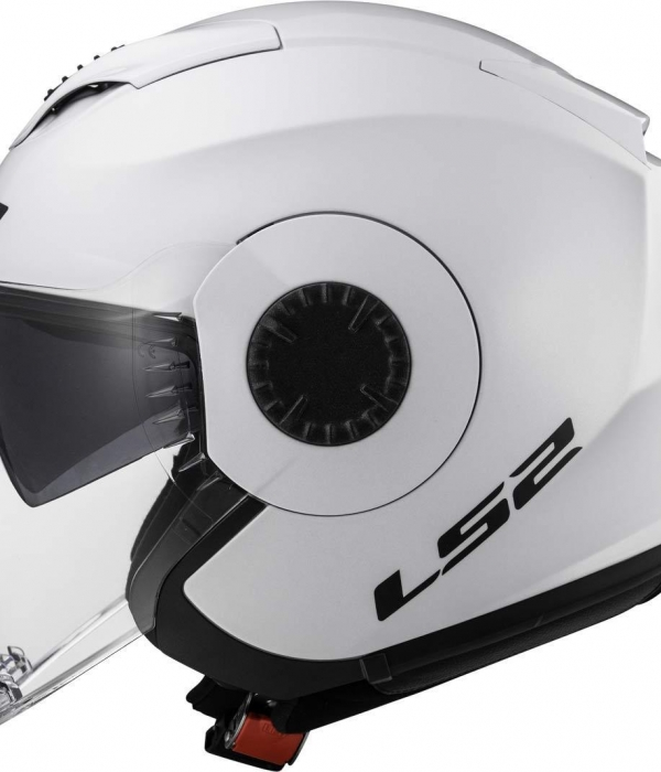 CASCO LS2 OF570 VERSO SINGLE MONO BLANCO BRILLO