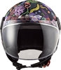 CASCO LS2 OF558 SPHERE LUX BLOOM AZUL - ROSA