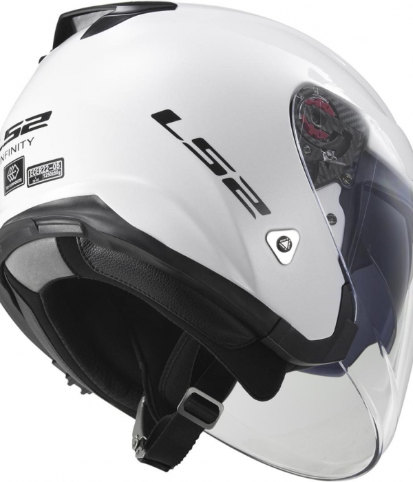 CASCO LS2 OF521 INFINITY BLANCO BRILLO