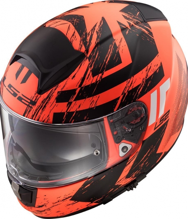 CASCO LS2 FF397 VECTOR FT2 HUNTER MATE - NARANJA -NEGRO