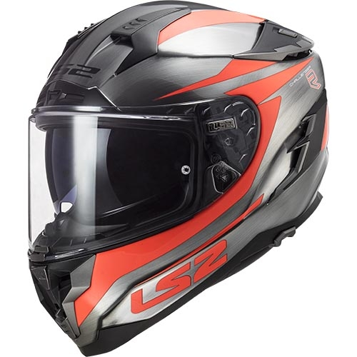 CASCO LS2 FF327 CHALLENGER CANNON JEANS- NARANJA FLUOR