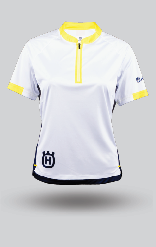 Camiseta Mountain Bike Husqvarna Mujer- Remote Jersey Blanco