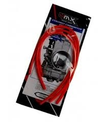 KIT TUBOS SOBRANTE CARBURADOR 4MX 2T ROJOS