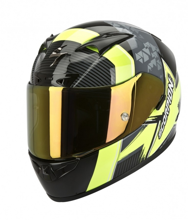 CASCO SCORPION 710 CRYSTAL NEGRO NEON
